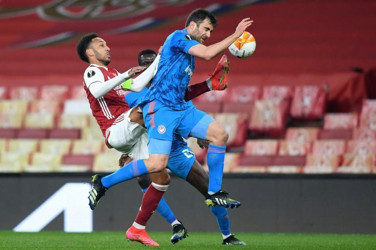 Former Arsenal defender Sokratis came up against his old side playing for Olympiakos