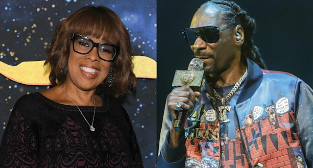 Gayle King and Snoop Dogg (Photo: Getty Images)