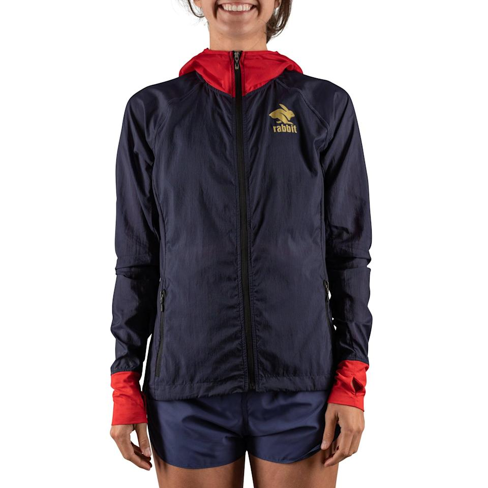 """<p>""""Weather in the mountains can change quick, but you also don't want to have heavyweight items to lug around,"""" Basham said. """"Find a lightweight, water- and windproof jacket that packs into your pocket or hydration vest. I use the <span>Rabbit Swish Jacket</span> ($84, originally $120) on hotter, more clear days and the new Rabbit Swish Jacket on colder, more wet days."""" </p> <p>While the Swish isn't available until October, Basham noted it's water-resistant and made of recycled coffee grounds - how cool!</p>"""