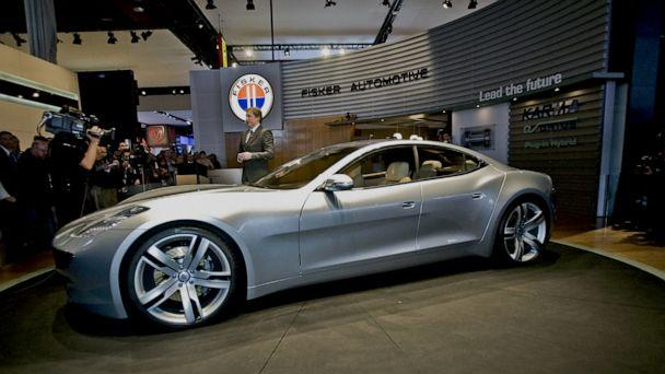 PHOTO: Fisker Automotive introduces its new plug-in hybrid, the Karma, during a press conference at the 2008 North American International Auto Show in Detroit, Jan. 14, 2008. (Geoff Robins/AFP/Getty Images, FILE)