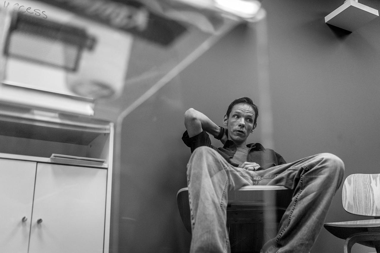 <p>Jack Barrett, a recovering heroin addict, attends group therapy at Groups in Middletown, Ohio.<br /> (Photograph by Mary F. Calvert for Yahoo News) </p>