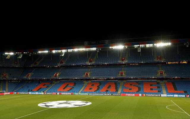 Soccer Football - Champions League - Basel vs Manchester City - St. Jakob-Park, Basel, Switzerland - February 13, 2018 General view inside the stadium before the match Action Images via Reuters/Andrew Boyers