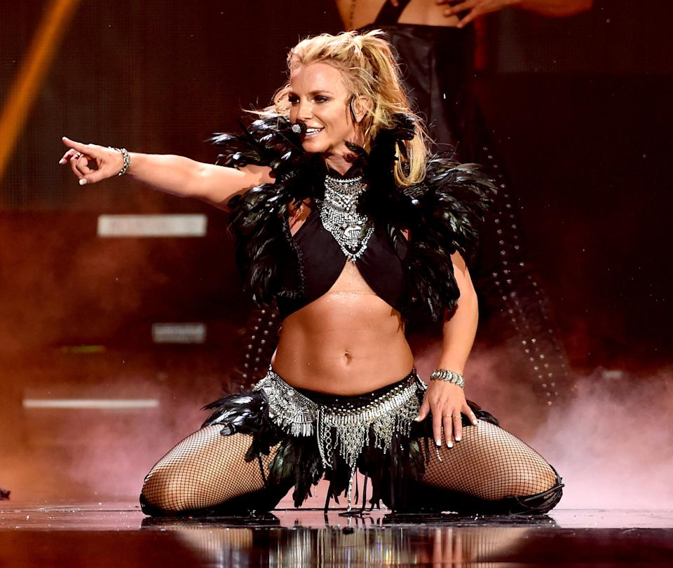 Britney Spears performs on stage