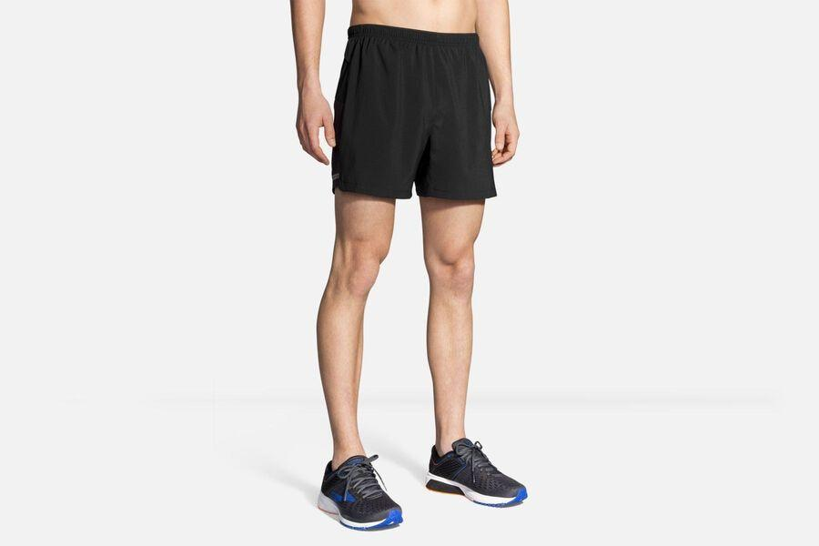 """<p><strong>Brooks</strong></p><p>brooksrunning.com</p><p><strong>$31.17</strong></p><p><a href=""""https://go.redirectingat.com?id=74968X1596630&url=https%3A%2F%2Fwww.brooksrunning.com%2Fen_us%2Fmens-sherpa-5-running-short%2F211137.html&sref=https%3A%2F%2Fwww.menshealth.com%2Ffitness%2Fg26286782%2Fbest-running-shorts%2F"""" rel=""""nofollow noopener"""" target=""""_blank"""" data-ylk=""""slk:Shop Now"""" class=""""link rapid-noclick-resp"""">Shop Now</a></p><p>With a lightweight, quick-drying fabric, mesh side panels, and built-in briefs, these Brooks shorts are an ideal choice for hot, humid runs. A back zip pocket protects your valuables against sweat.</p>"""