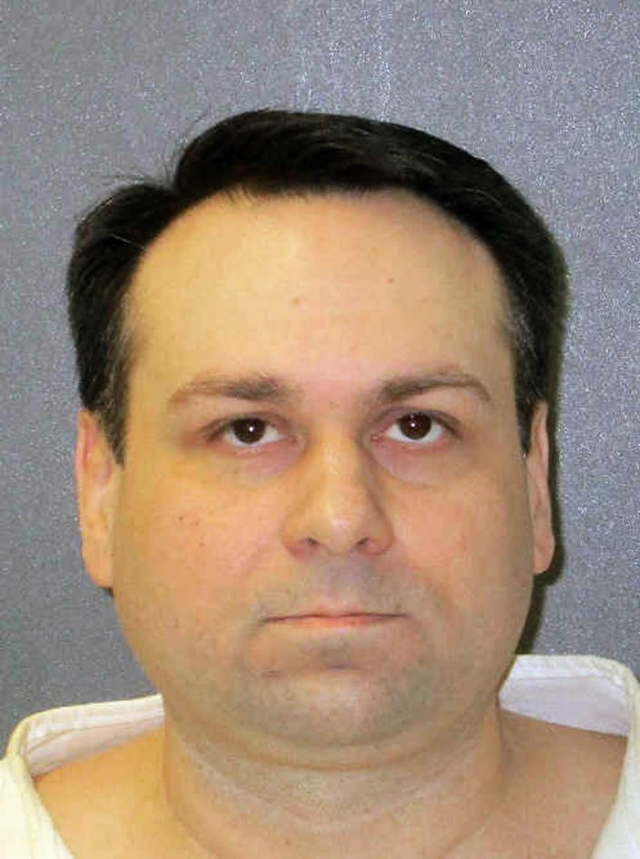 This undated photo provided by the Texas Department of Criminal Justice shows John William King. The white supremacist on Texas death row who orchestrated one of the most gruesome hate crimes in U.S. history faces execution for the infamous dragging death nearly 21 years ago of James Byrd Jr., a black man from East Texas. King is scheduled to receive lethal injection Wednesday evening, April 24, 2019. (Texas Department of Criminal Justice via AP)