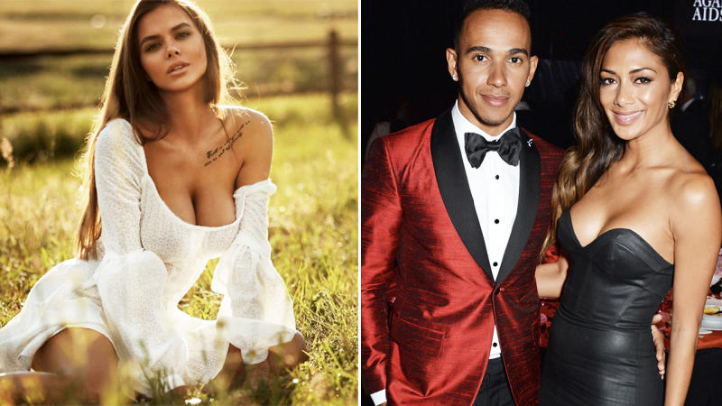 Viktoria Odintcova and Lewis Hamilton, pictured here after he broke up with Nicole Scherzinger.