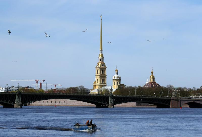The River Neva in St Petersburg.