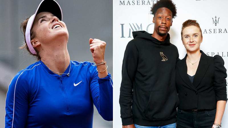 Elina Svitolina and Gael Monfils, pictured here before the French Open.