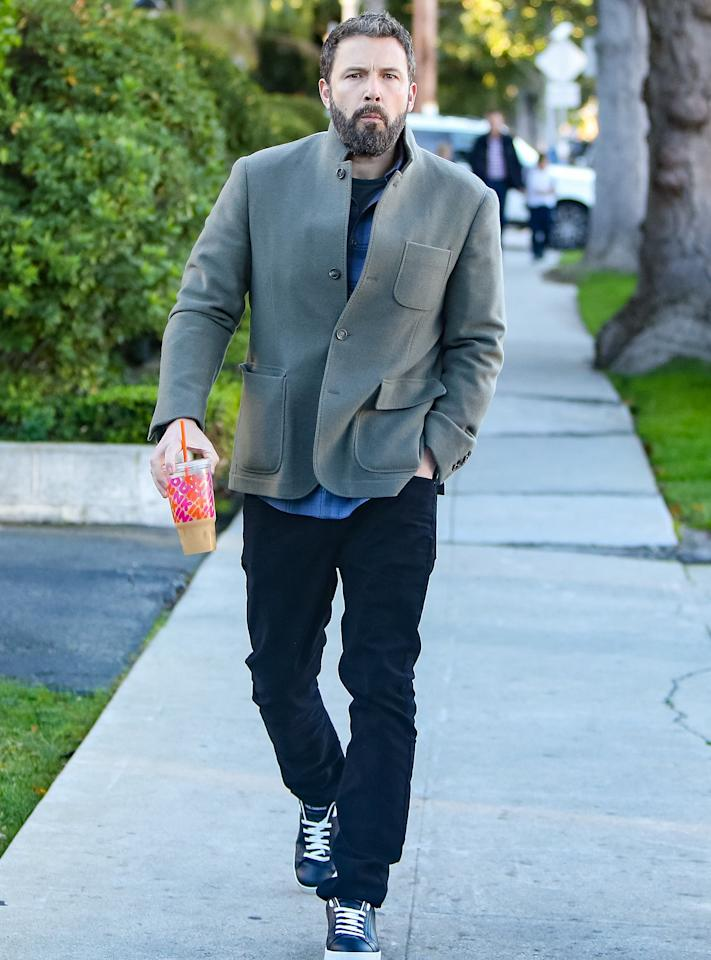 """Having grown up in Massachusetts, Affleck is now a die-hard Dunkin' Donuts fan. When asked by <a href=""""http://collider.com/ben-affleck-interview-triple-frontier/#netflix""""><em>Collider</em></a> if he """"still finds it cool"""" that the East Coast chain has expanded to his current home of Los Angeles (Dunkin' opened its first location there in 2014), he revealed that the coffee is a daily indulgence. """"It's amazing! I have Dunkin Donuts every day,"""" he said. """"It's very weird, I have it every day and people are always like, 'Where is that? Is that near here?' So, I feel like I'm spreading the word."""""""