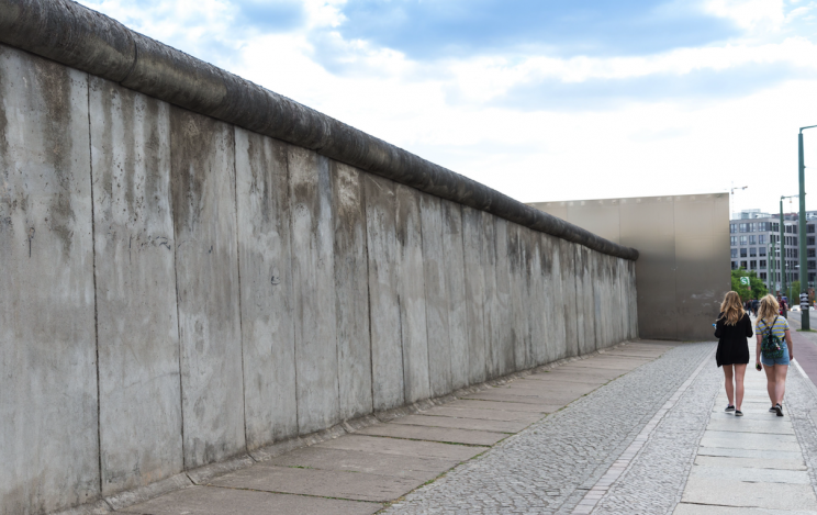 The bricked up house was compared to the Berlin Wall (Picture: Rex Features)