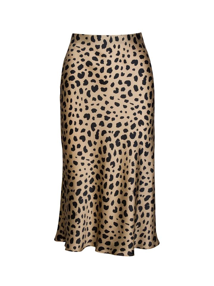 "<p><span>What's not to love about this leopard print, silk midi skirt? Perfect worn with a slounchy jumper or equally, with heeled sandals for a night out. What's more, it's got the influencer seal of approval and has been clogging up our Instagram </span><span>f</span><span>eeds.</span><br /><em><a rel=""nofollow"" href=""https://realisationpar.com/the-naomi-wild-things/""><span>Buy here.</span></a></em><br /><br /></p>"