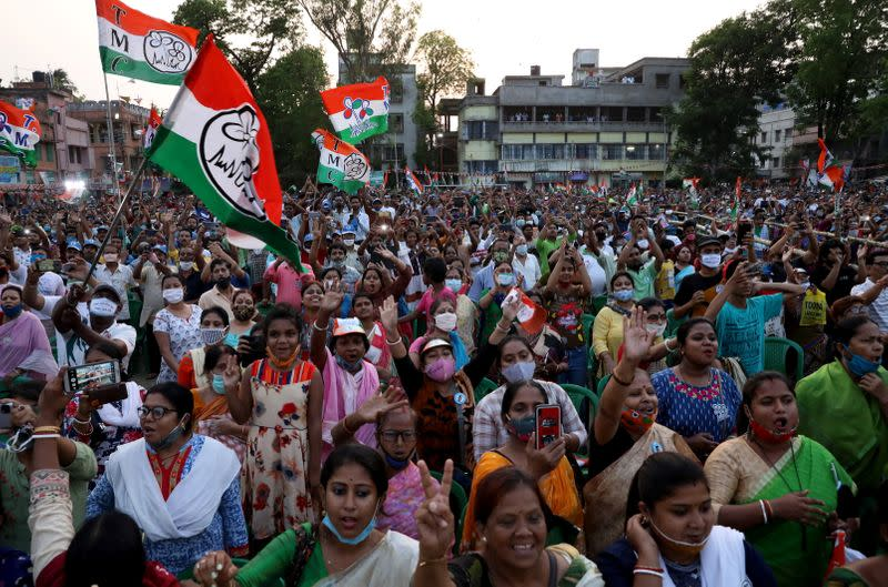 Election campaign rally ahead the forth phase of the state election, in Kolkata