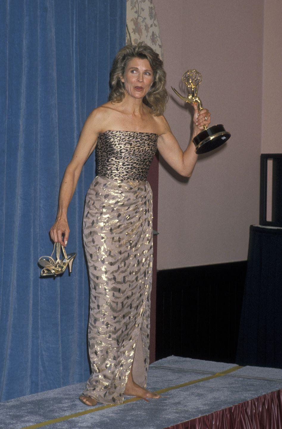 """<p>Candice Bergen proved that taking a break from heels is always acceptable, after her win for """"Murphy Brown.""""</p>"""