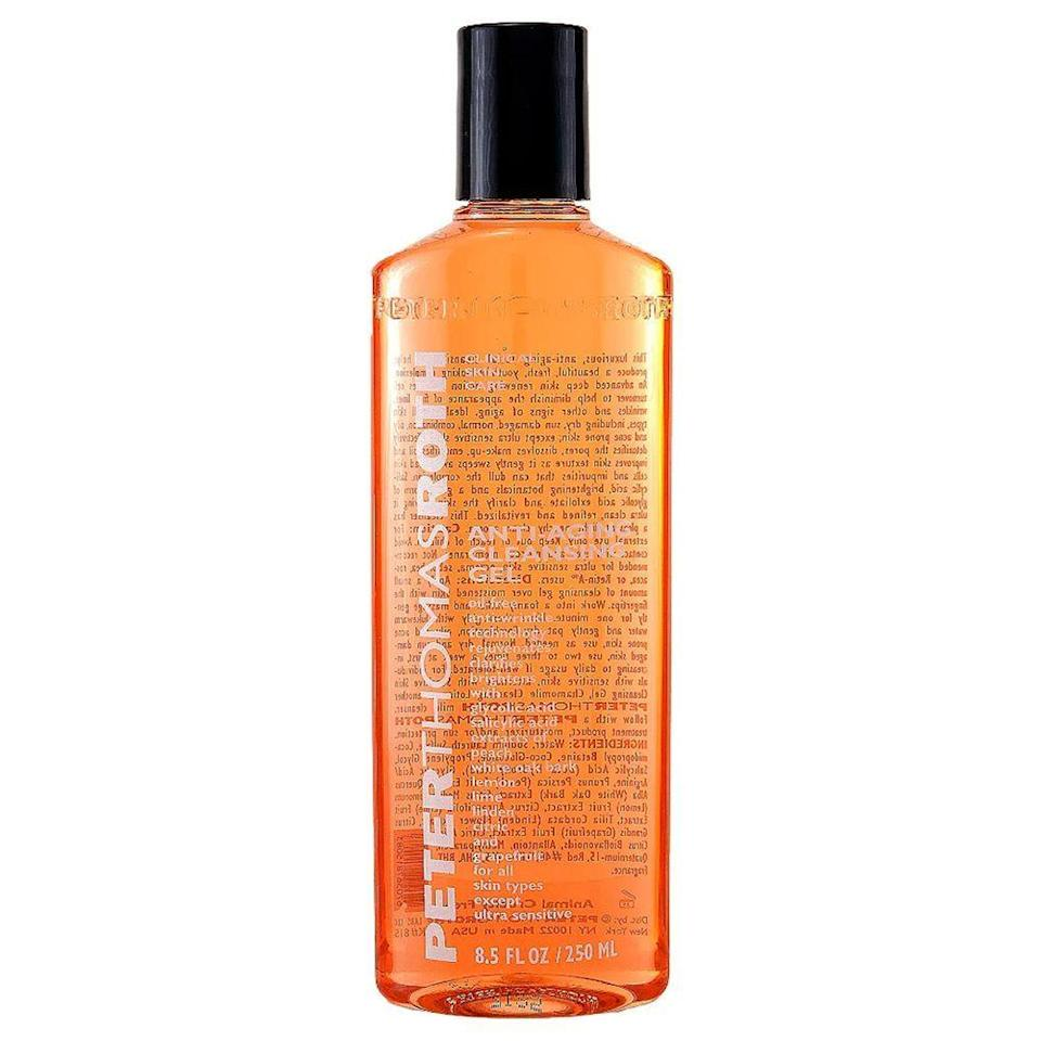 """<p><strong>Peter Thomas Roth</strong></p><p>ulta.com</p><p><a href=""""https://go.redirectingat.com?id=74968X1596630&url=https%3A%2F%2Fwww.ulta.com%2Fulta%2Fbrowse%2FproductDetail.jsp%3FproductId%3DxlsImpprod540342&sref=https%3A%2F%2Fwww.bestproducts.com%2Fbeauty%2Fg33899927%2Fulta-21-days-of-beauty-sale-2020%2F"""" rel=""""nofollow noopener"""" target=""""_blank"""" data-ylk=""""slk:Shop Now"""" class=""""link rapid-noclick-resp"""">Shop Now</a></p><p><del>$39</del><br><strong>$19.50</strong></p><p>Step up your cleansing routine with this anti-aging skin perfector. This cleanser is infused with pore-clarifying favorites like <a href=""""https://www.bestproducts.com/beauty/g22530244/benefits-of-glycolic-acid-skincare-products/"""" rel=""""nofollow noopener"""" target=""""_blank"""" data-ylk=""""slk:glycolic acid"""" class=""""link rapid-noclick-resp"""">glycolic acid</a> to brighten, tighten, and cleanse skin without over-stripping your skin of natural oils. </p>"""