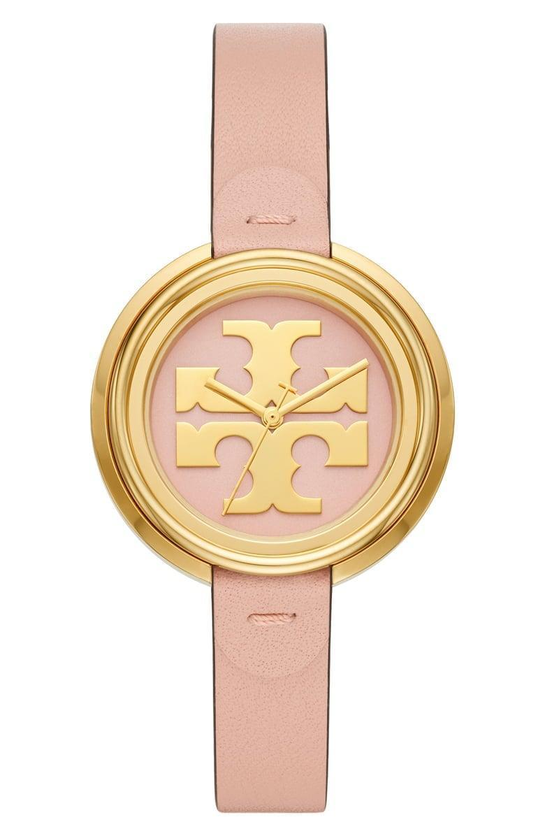 <p><span>Tory Burch The Miller Leather Strap Watch</span> ($130, originally $195)</p>