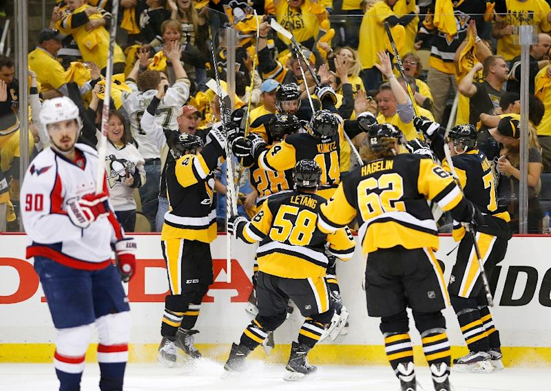 los angeles 000a0 c4336 Capitals out as Pittsburgh Penguins snatch OT NHL thriller