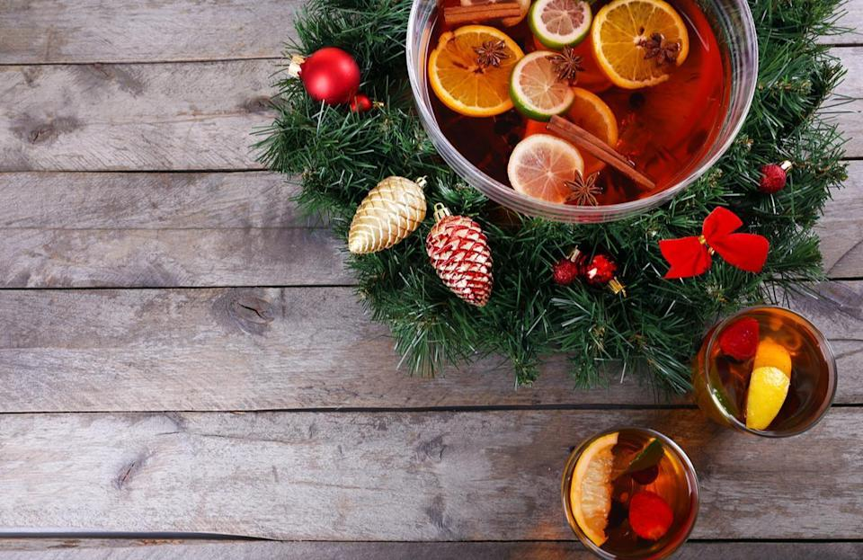 """<p>Pink lemonade, water and grenadine syrup are combined with a red carbonated drink such as strawberry or cherry soda for a classic Christmas punch. <a href=""""https://www.thedailymeal.com/cook/reasons-grandma-was-best-cook?referrer=yahoo&category=beauty_food&include_utm=1&utm_medium=referral&utm_source=yahoo&utm_campaign=feed"""" rel=""""nofollow noopener"""" target=""""_blank"""" data-ylk=""""slk:This recipe from grandma"""" class=""""link rapid-noclick-resp"""">This recipe from grandma</a> is traditionally for the holidays.</p> <p><a href=""""https://www.thedailymeal.com/recipes/christmas-punch-mocktail?referrer=yahoo&category=beauty_food&include_utm=1&utm_medium=referral&utm_source=yahoo&utm_campaign=feed"""" rel=""""nofollow noopener"""" target=""""_blank"""" data-ylk=""""slk:For the Christmas Punch recipe, click here."""" class=""""link rapid-noclick-resp"""">For the Christmas Punch recipe, click here.</a></p>"""