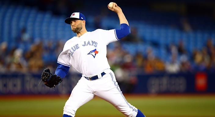 The Blue Jays lost Tim Mayza to injury against the New York Yankees on Friday. (Photo by Vaughn Ridley/Getty Images)