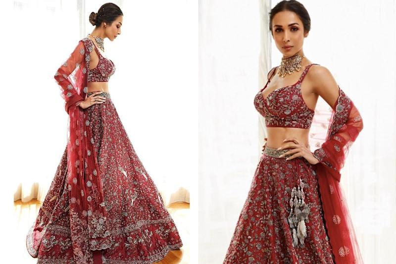 Malaika Arora's Red Lehenga is Our Favourite Bridal Ensemble from Lakme Fashion Week 2020