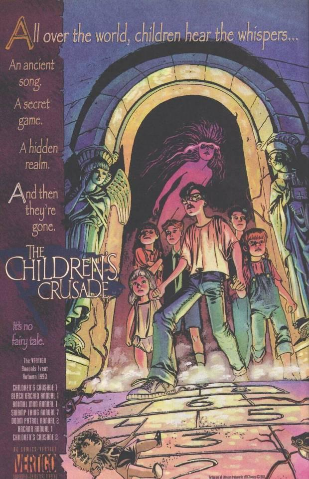 The cover for the Children's crusade collection shows Tim Hunter, Charles, Edwin, and Dorothy Paine