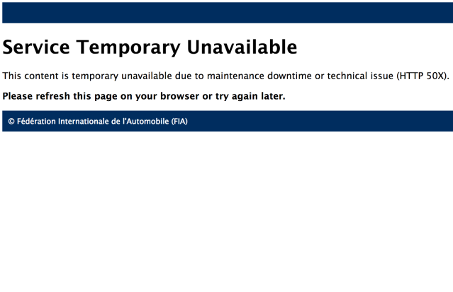 It may be a coincidence, but… this was how the FIA's website looked shortly after F1 fans took to social media (and, presumably, the FIA website) in response to the Verstappen penalty