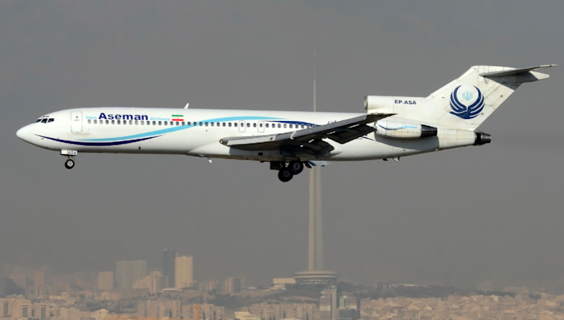 Boeing 727: the only carrier still flying these three-engined jets is Aseman Airlines: Mehrad Watson