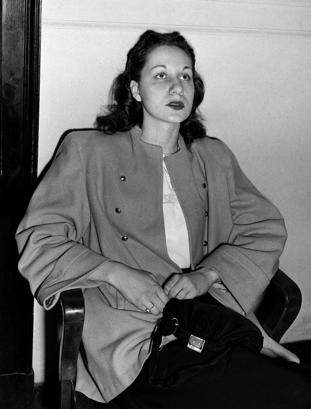 "FILE - In this June 16, 1949 file photo, Ruth Steinhagen, 19, is seen at felony court in Chicago where she appeared for her hearing on charges of assault with intent to murder in the shooting of Philadelphia Phillies ball player Eddie Waitkus at a Chicago hotel on June 14, 1949. Steinhagen died of natural causes at 83 in late December 2012. Her death is the final chapter in one of the most sensational and bizarre criminal cases in Chicago history that made headlines around the country. She was the inspiration for Bernard Malamud's novel ""The Natural"" and the 1984 movie starring Robert Redford. (AP Photo/Charles Knoblock, File)"