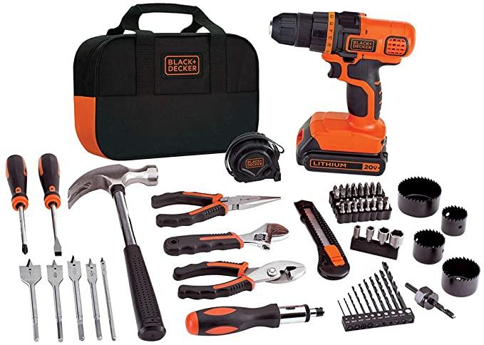 Save 46% on Black + Decker Lithium Drill and Project Kit. Image via Amazon.