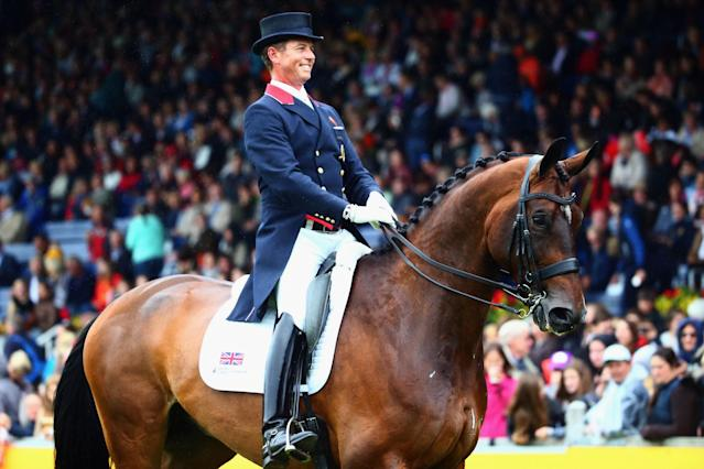 <p>In 2012, Hester was one of four riders who represented the United Kingdom at the London Olympics in the individual and team dressage events. With him riding Uthopia, the team won gold. Hester is openly gay and was formerly in a relationship with Spencer Wilton, who is also on the Rio Olympic team. (Getty) </p>