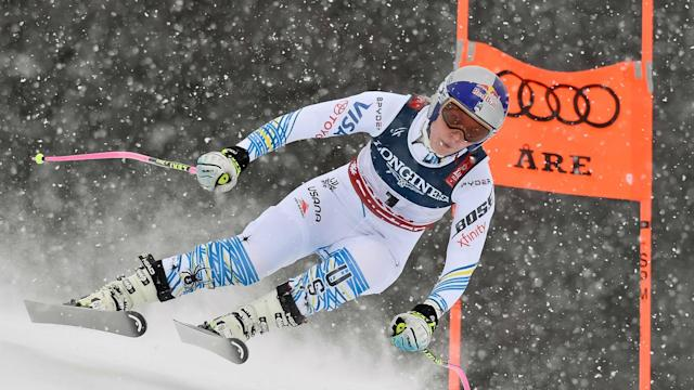 Ahead of the final outing of her career, Lindsey Vonn looked in good shape during a downhill run at the FIS Alpine World Ski Championships.
