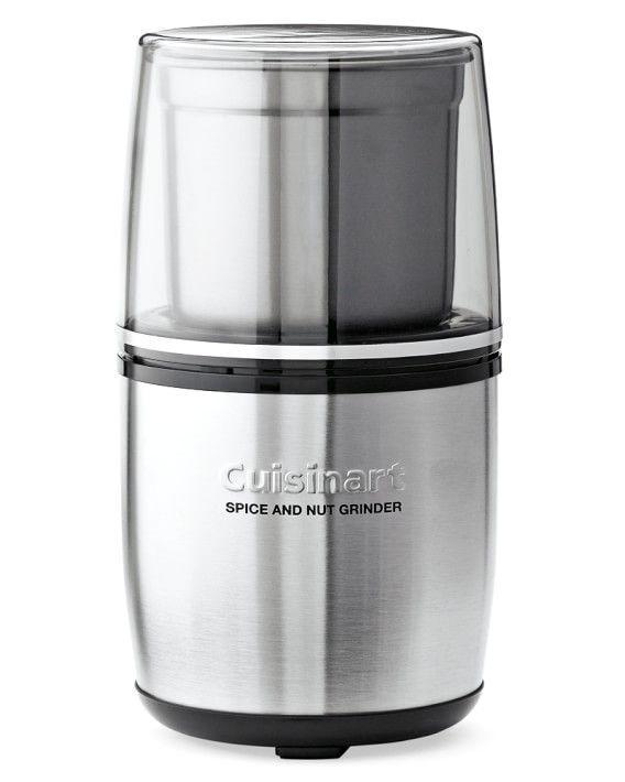"""<p><strong>Cuisinart</strong></p><p>williams-sonoma.com</p><p><strong>$39.95</strong></p><p><a href=""""https://go.redirectingat.com?id=74968X1596630&url=https%3A%2F%2Fwww.williams-sonoma.com%2Fproducts%2Fcuisinart-spice-and-nut-grinder&sref=https%3A%2F%2Fwww.delish.com%2Fcooking%2Fg4446%2Fbest-food-processor%2F"""" rel=""""nofollow noopener"""" target=""""_blank"""" data-ylk=""""slk:BUY NOW"""" class=""""link rapid-noclick-resp"""">BUY NOW</a></p><p>One of the Delish food editor's favorite <a href=""""https://www.delish.com/cooking/recipe-ideas/a27793321/chimichurri-sauce-recipe/"""" rel=""""nofollow noopener"""" target=""""_blank"""" data-ylk=""""slk:food processor"""" class=""""link rapid-noclick-resp"""">food processor</a> isn't a food processor at all—but it does just about the same thing. If you're only occasionally going to chop spices, nuts, and the like, opt for this mini grinder. It'll you money and kitchen space.</p>"""