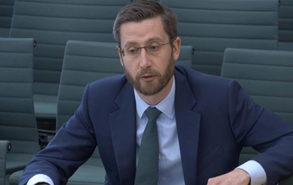 Simon Case, the Cabinet Secretary and the UK's most senior civil servant, giving evidence on the work of the Cabinet Office to the Commons Public Administration and Constitutional Affairs Committee (PACAC). Picture date: Monday April 26, 2021.