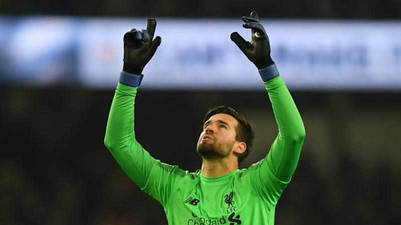 Alisson missing Brazil but feels at home at Liverpool