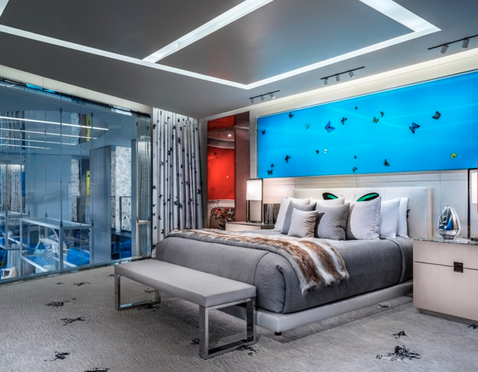<p>L'Empathy Suite dispone di due camere da letto. (Foto: © Palms Casino Resort) </p>
