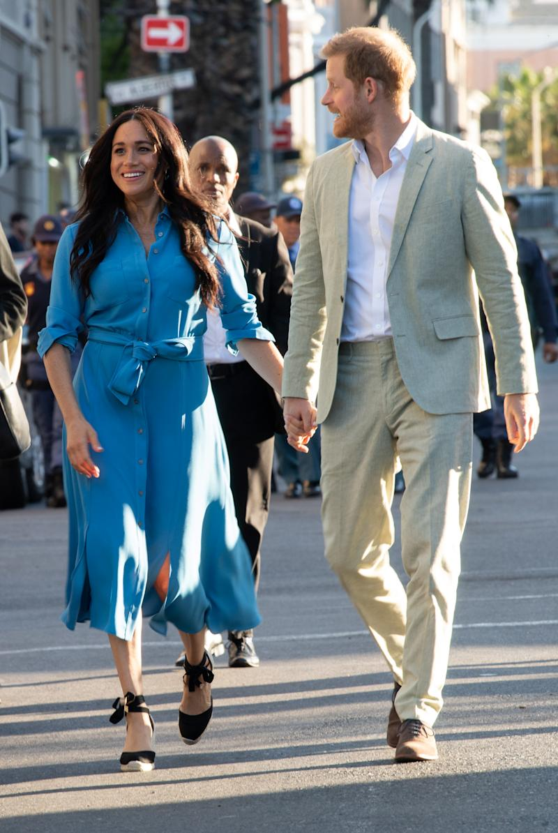 Meghan, Duchess of Sussex and Prince Harry, Duke of Sussex in Cape Town, South Africa