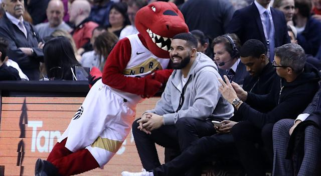 Drake has a spot inside the Toronto Raptors locker room. (Photo by Vaughn Ridley/Getty Images)