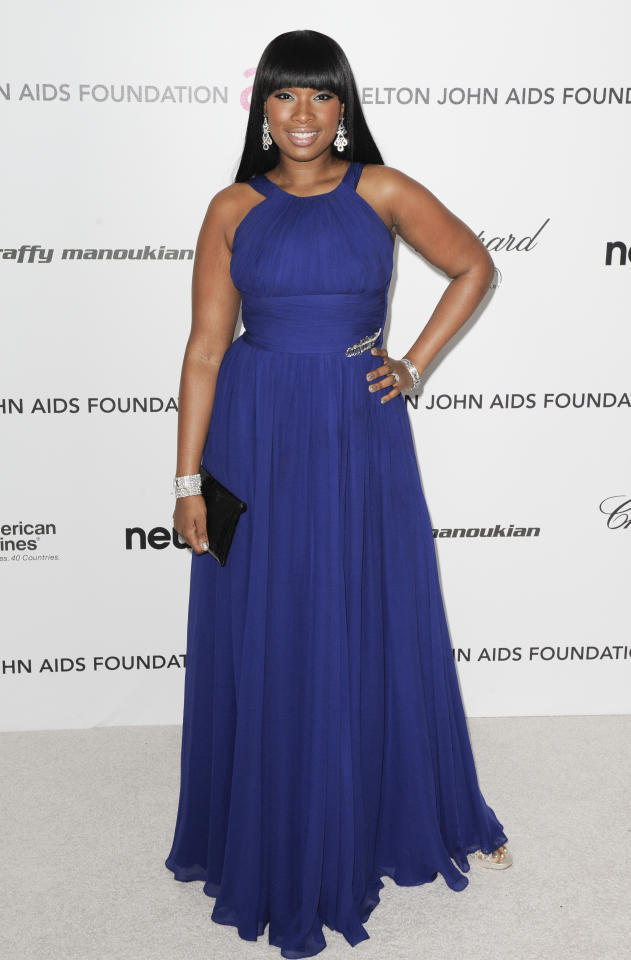 Actress and singer Jennifer Hudson arrives at the 18th Annual Elton John AIDS Foundation Academy Award Viewing Party