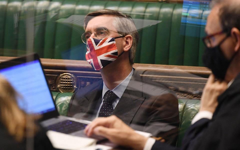 Jacob Rees-Mogg urged 'proportionality' in government restrictions to stop the spread of Covid - Jessica Taylor/UK Parliament/AFP via Getty Images
