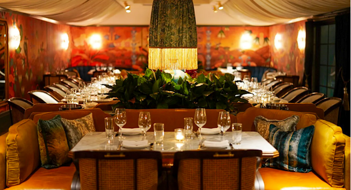 Olivetta's dining room provides comfortable seating and intimate lighting.