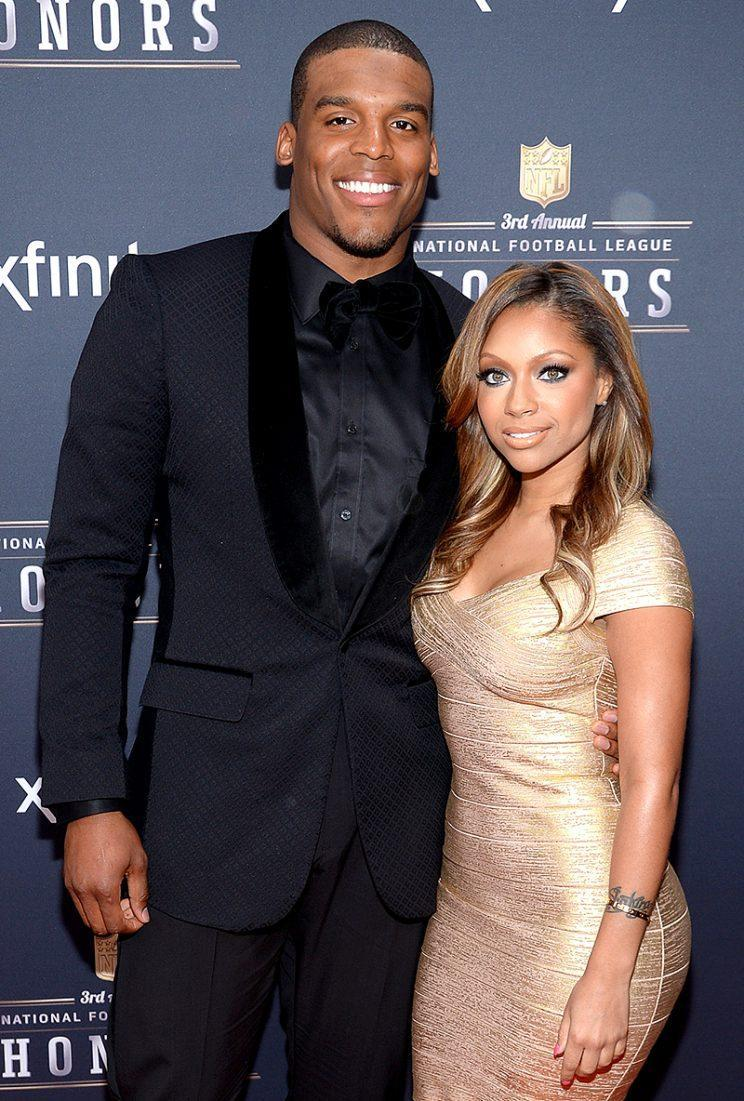 Cam Newton and his main squeeze, Kia Proctor. (Photo: Evan Agostini/Invision for NFL/AP Images)