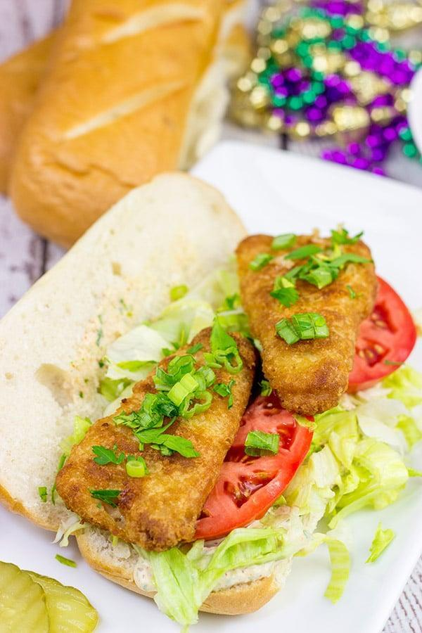 """<p>If you want an easy-to-make dinner on the table in less than 30 minutes, this is the recipe for you. These beer battered sandwiches are too good to be true considering how easy they are to make. Topped off with a remoulade sauce, you'll want to whip these up every night of the week.</p> <p><strong>Get the recipe</strong>: <a href=""""https://spicedblog.com/beer-battered-fish-poboys.html"""" class=""""link rapid-noclick-resp"""" rel=""""nofollow noopener"""" target=""""_blank"""" data-ylk=""""slk:beer battered fish po'boys"""">beer battered fish po'boys</a></p>"""