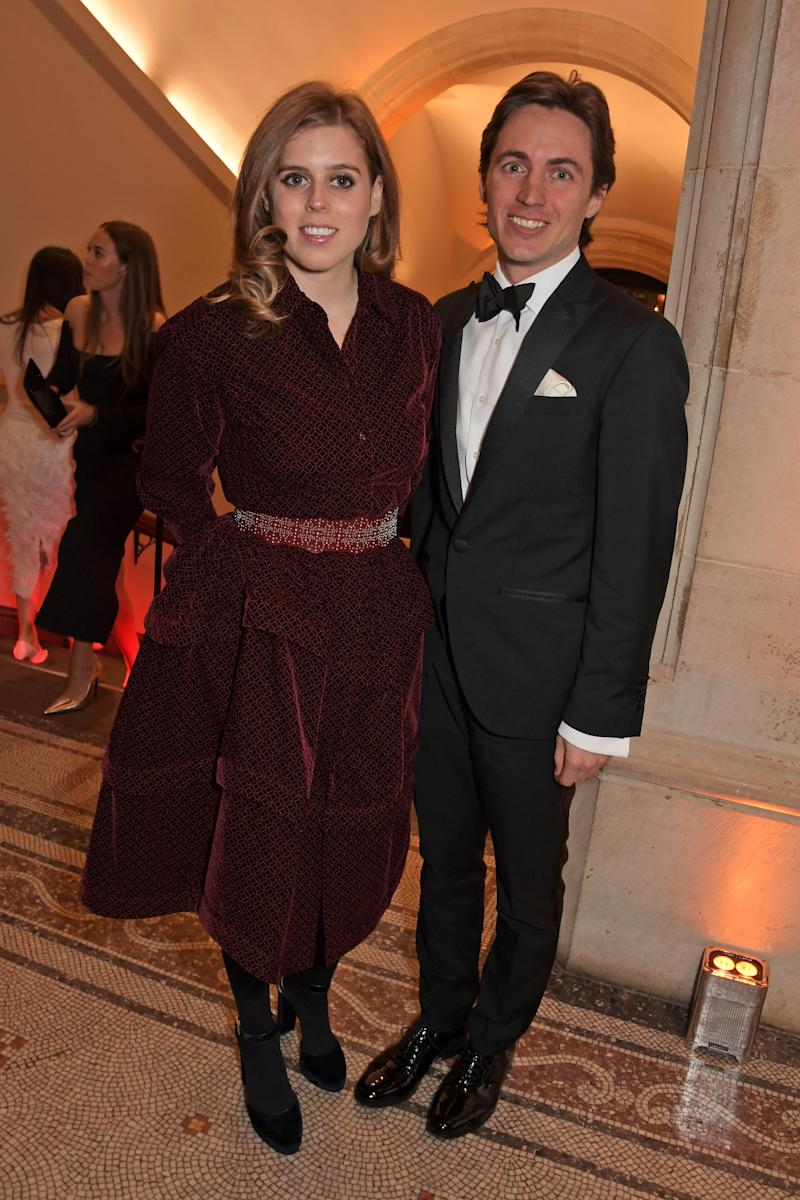 Beatrice of York and Edoardo Mapelli Mozzi attend The Portrait Gala 2019 hosted by Dr Nicholas Cullinan and Edward Enninful to raise funds for the National Portrait Gallery's 'Inspiring People' project at the National Portrait Gallery on March 12, 2019 in London, England.