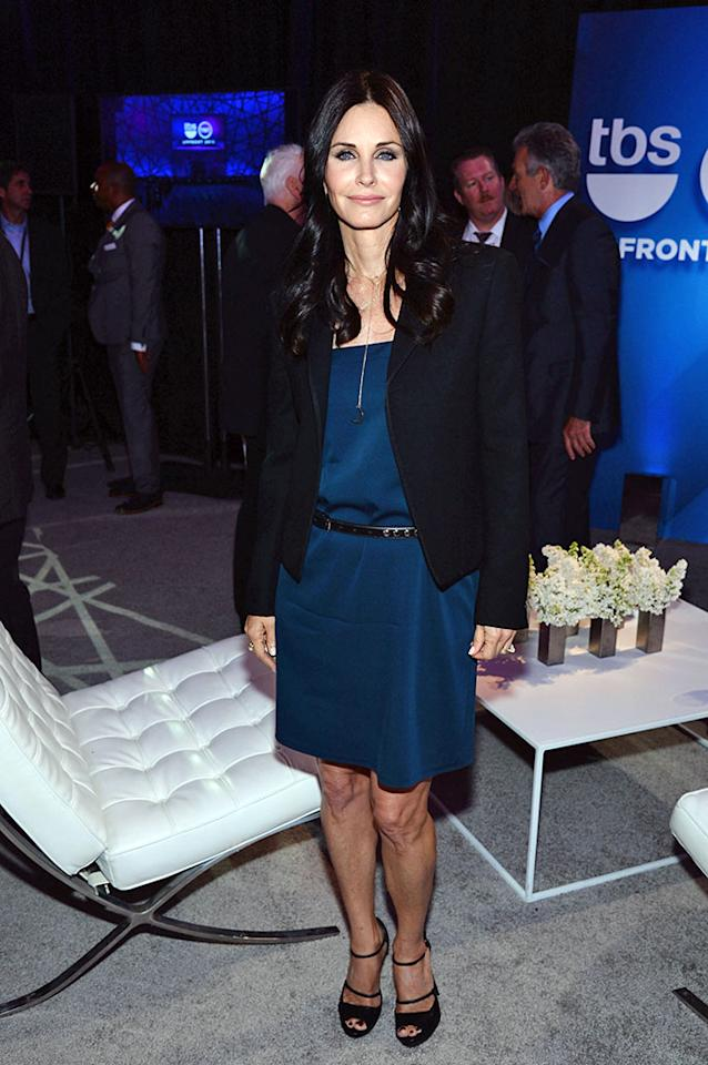 "Courteney Cox (""Cougar Town"") attends the 2013 TNT/TBS Upfront at Hammerstein Ballroom on May 15, 2013 in New York City."