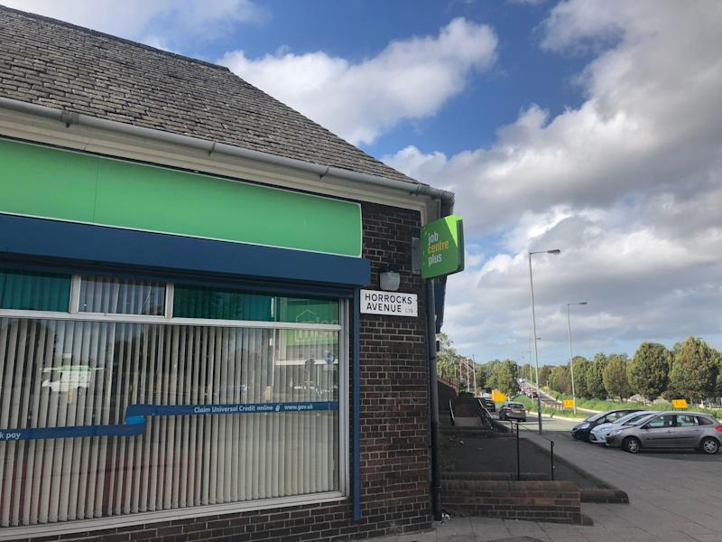 The Garston job centre, which will begin rolling out Universal Credit next week. (Photo: Nicola Slawson)