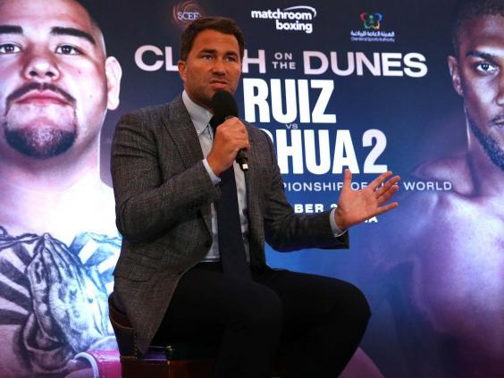 Hearn announced on Monday that the fight will take place in Saudi Arabia (Getty)