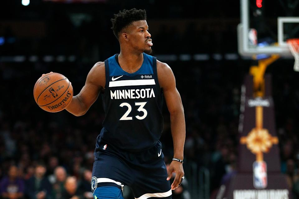 Timberwolves owner Glen Taylor has reportedly told other NBA teams that Jimmy Butler is available, despite Tom <span>Thibodeau's reluctance to trade his All-Star forward. </span>(Getty Images)