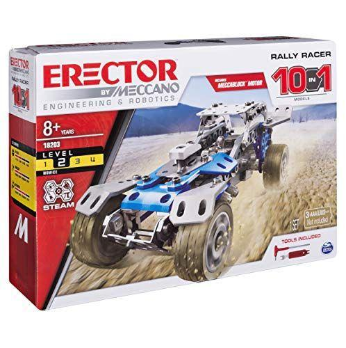 """<p><strong>Meccano</strong></p><p>amazon.com</p><p><strong>$20.99</strong></p><p><a href=""""https://www.amazon.com/dp/B07BML947Q?tag=syn-yahoo-20&ascsubtag=%5Bartid%7C10048.g.34727939%5Bsrc%7Cyahoo-us"""" rel=""""nofollow noopener"""" target=""""_blank"""" data-ylk=""""slk:Buy Now"""" class=""""link rapid-noclick-resp"""">Buy Now</a></p><p>This Rally Racer from Erector is great for your kid's STEM education—and they will have so much fun building it, they won't even know they're learning. This 159-piece set includes an electric motor to provide propulsion for the finished product.</p>"""