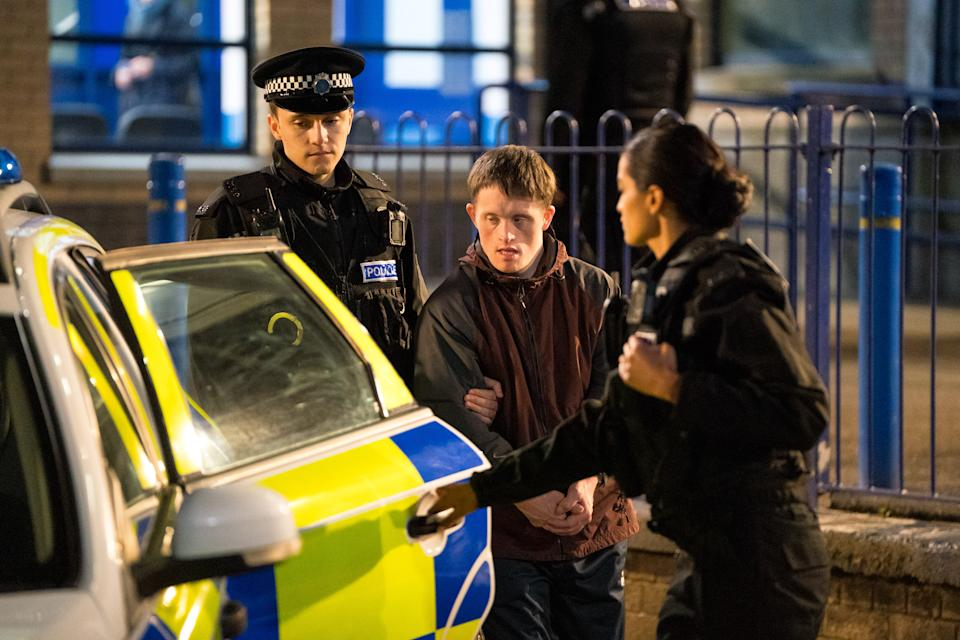WARNING: Embargoed for publication until 00:00:01 on 30/03/2021 - Programme Name: Line of Duty S6 - TX: n/a - Episode: Line Of Duty - Ep 3 (No. n/a) - Picture Shows:  Supporting Artist, Ryan Pilkington (GREGORY PIPER), Terry Boyle (TOMMY JESSOP) - (C) World Productions - Photographer: Steffan Hill