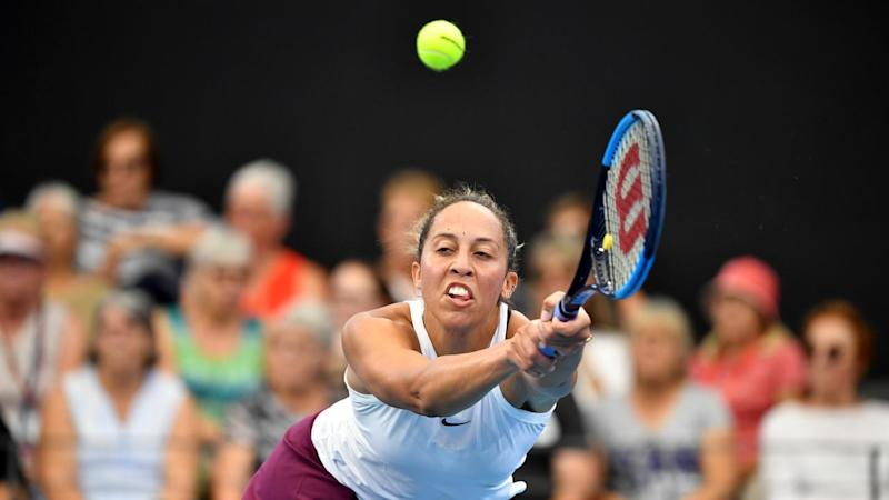 Madison Keys has reached the Brisbane International semi-finals after beating Danielle Collins