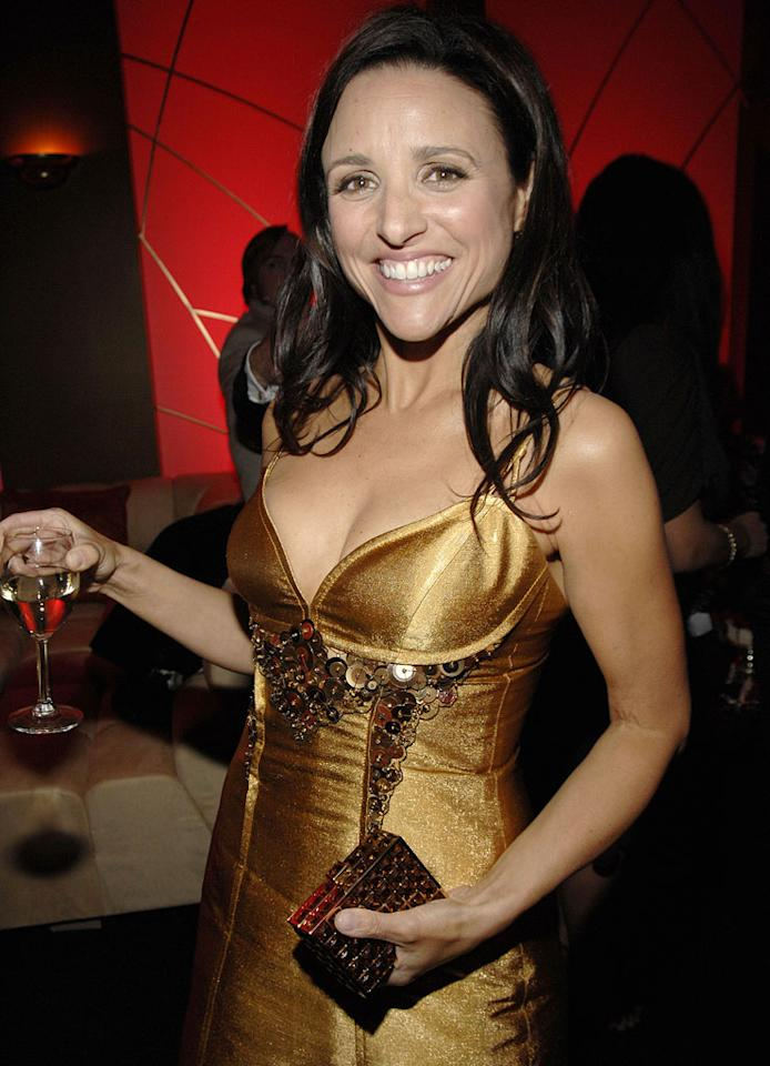 """<a href=""""/julia-louis-dreyfus/contributor/29684"""">Julia Louis-Dreyfus</a> at the In Style and Warner Bros. 2007 Golden Globe After Party."""